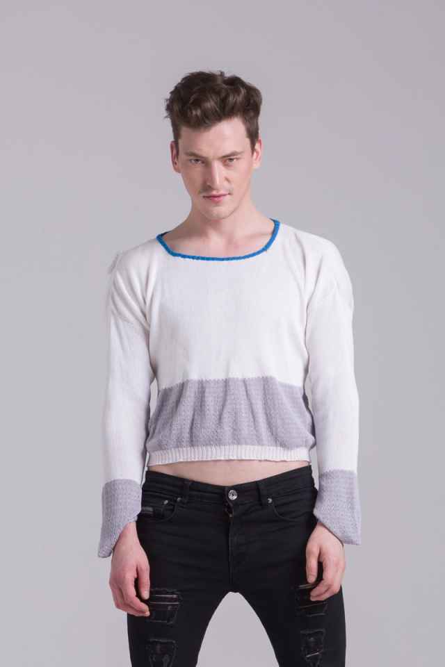 cotton white sweater mens