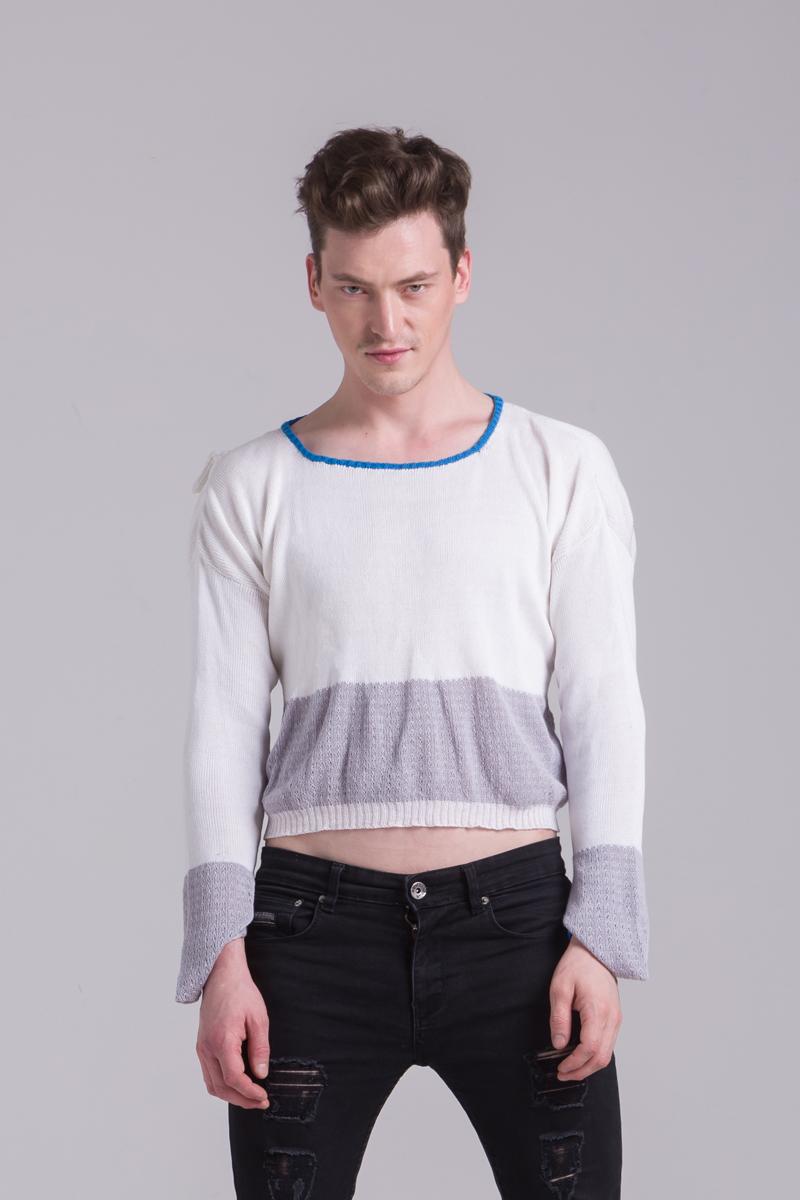cotton white sweater mens