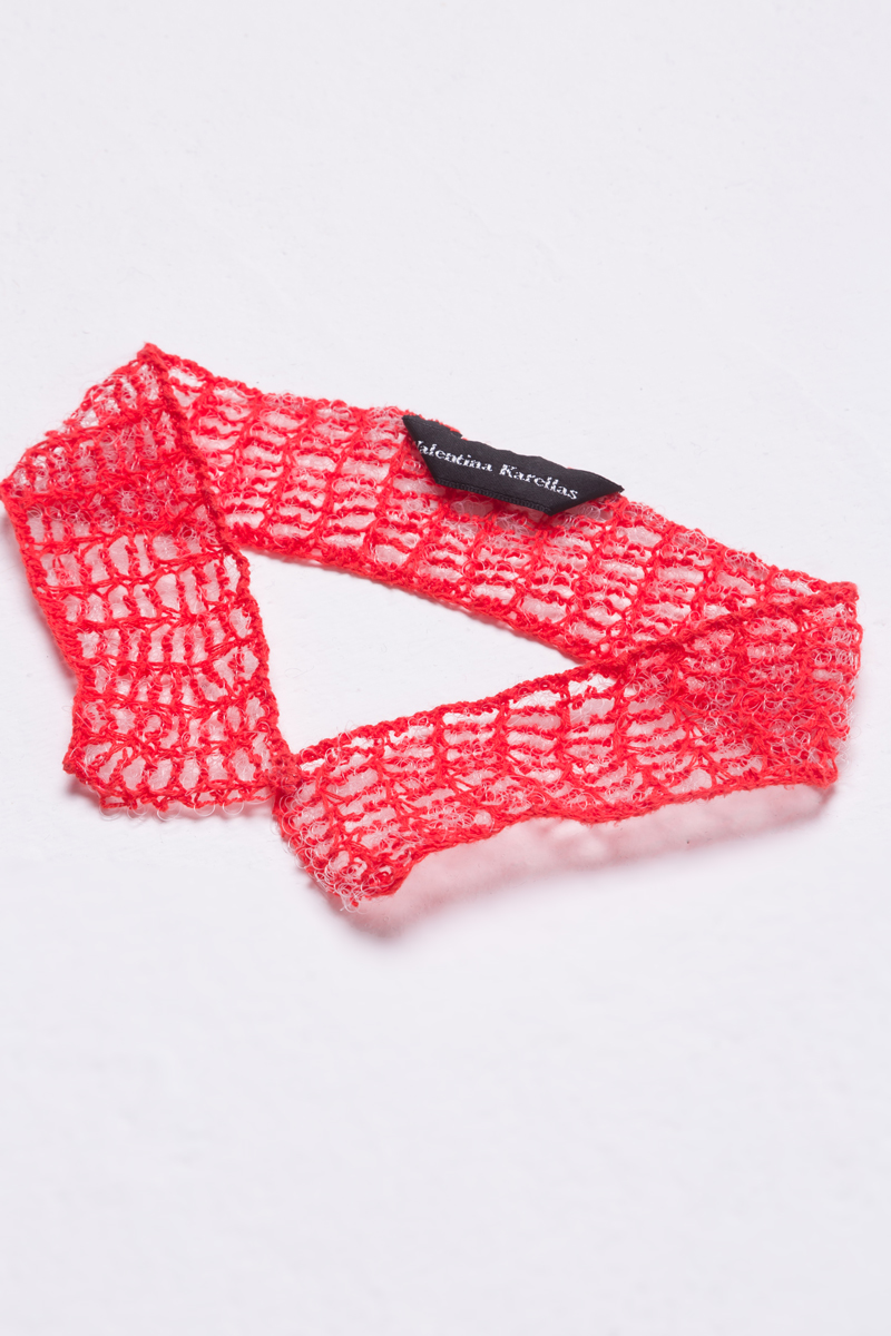 tangerine knitted collar