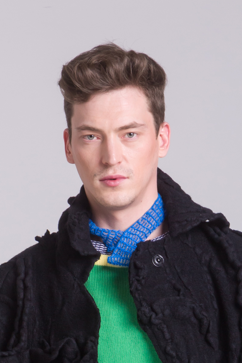 blue knitted collar accessories necklace unisex