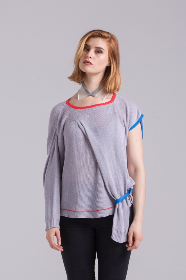 cotton jumper sweater grey unisex