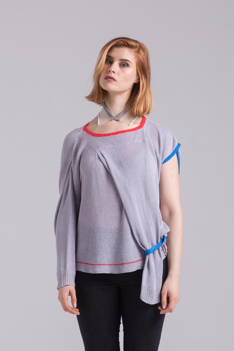 cotton jumper sweater grey unisex