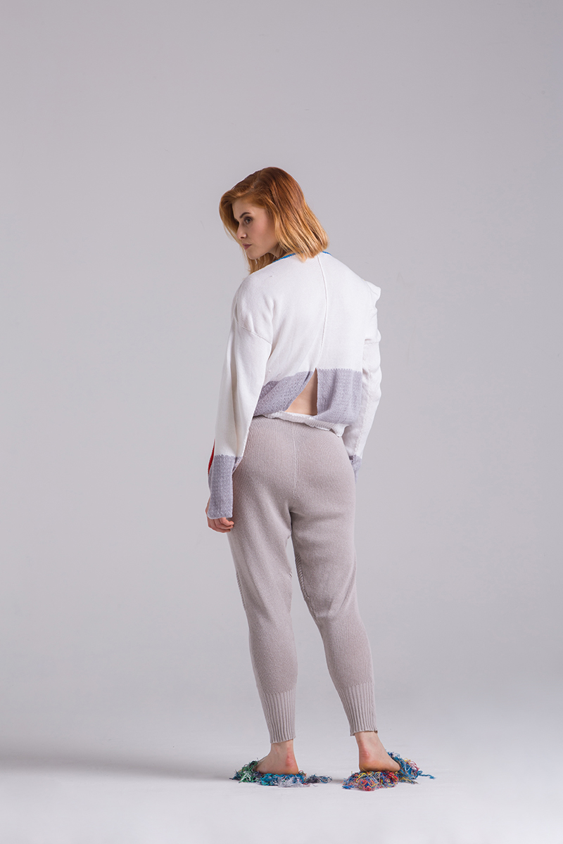 Viscose knitted summer loose knit trousers pants