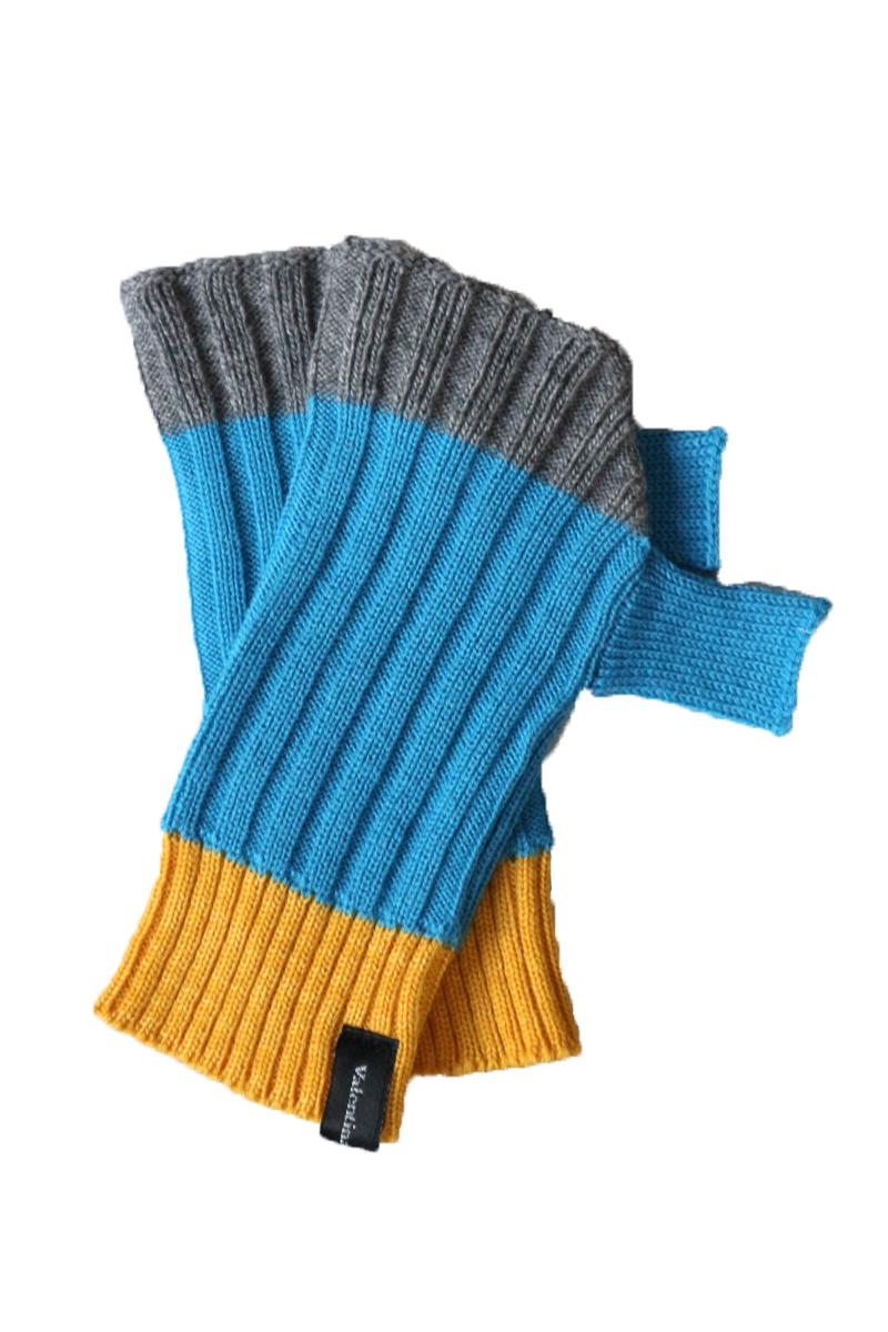 blue mittens merino wool