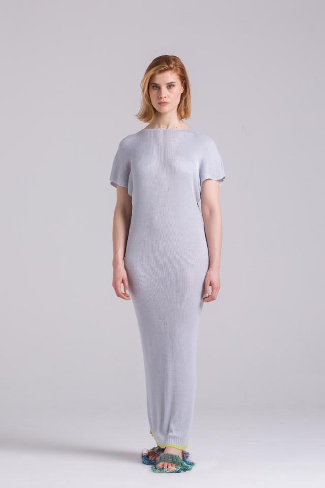 Long knitted summer dress