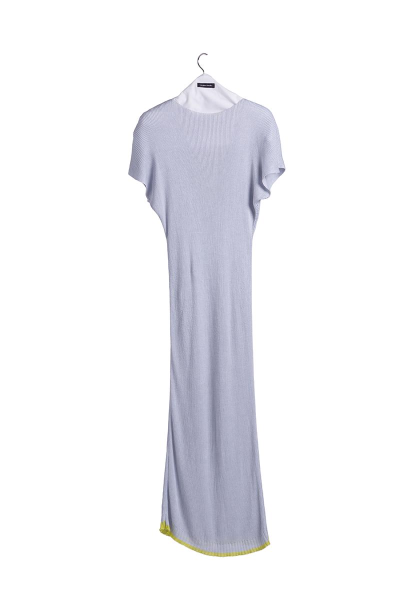 knitted viscose long dress