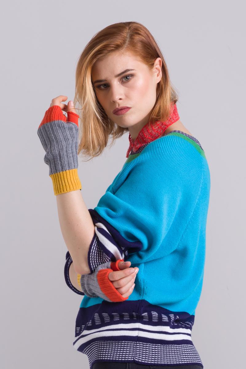 unisex fingerless gloves mittens merino wool