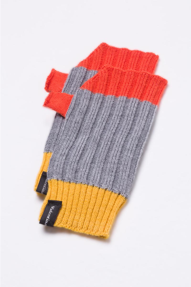 fingerless gloves mittens grey merino wool unisex