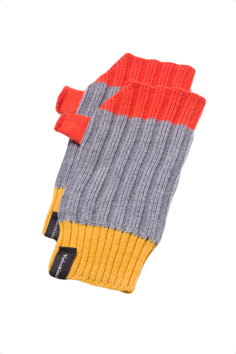 grey fingerless gloves mittens merino wool unisex