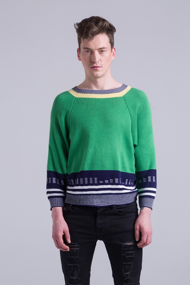Knitted Sweater green mens