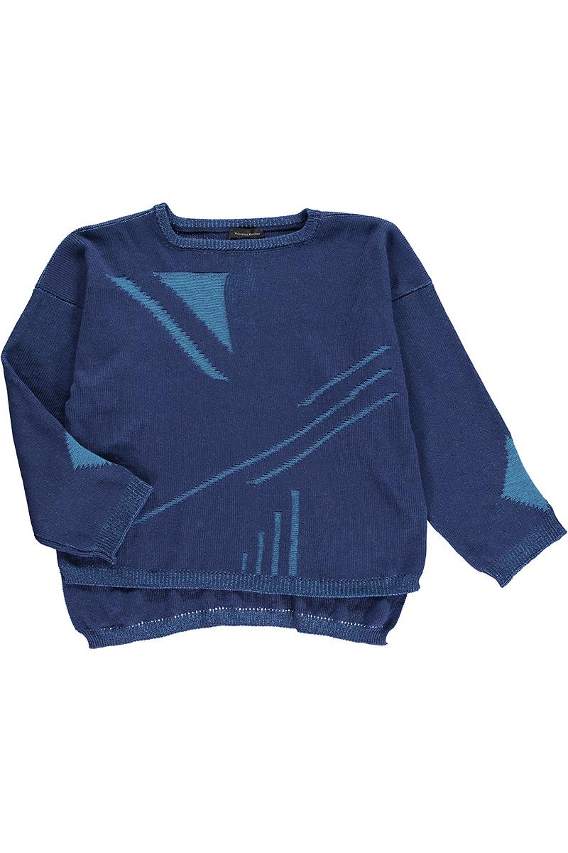 blue unisex navy wool jumper