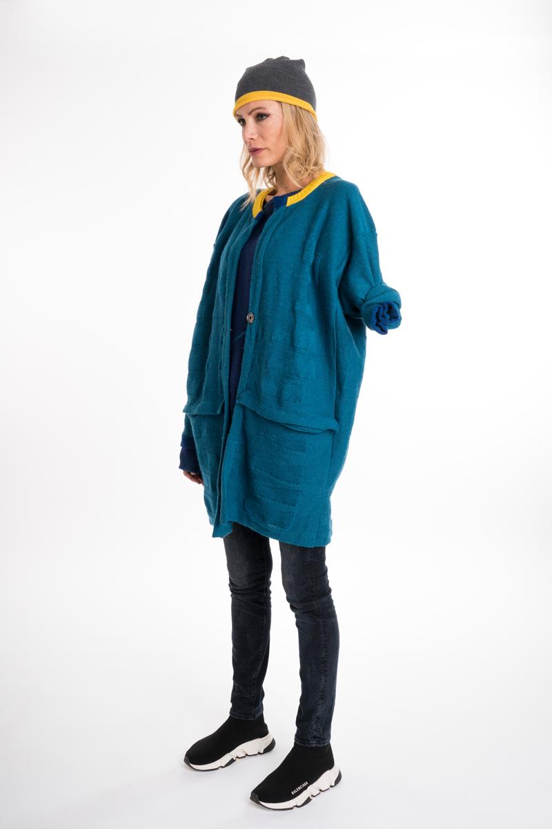 Bramber Short Green wool jacket