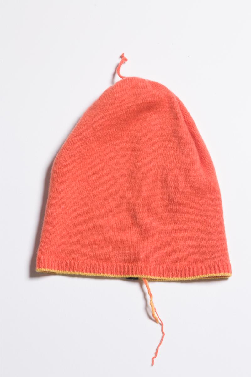 knitted orange cashmere beanie