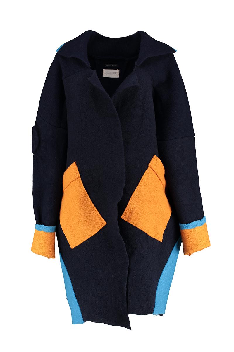 Navy merino wool felted jacket
