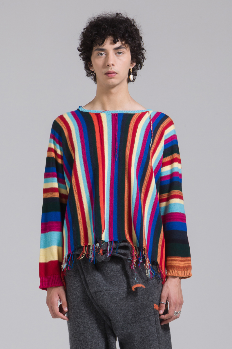 bright striped cashmere jumper