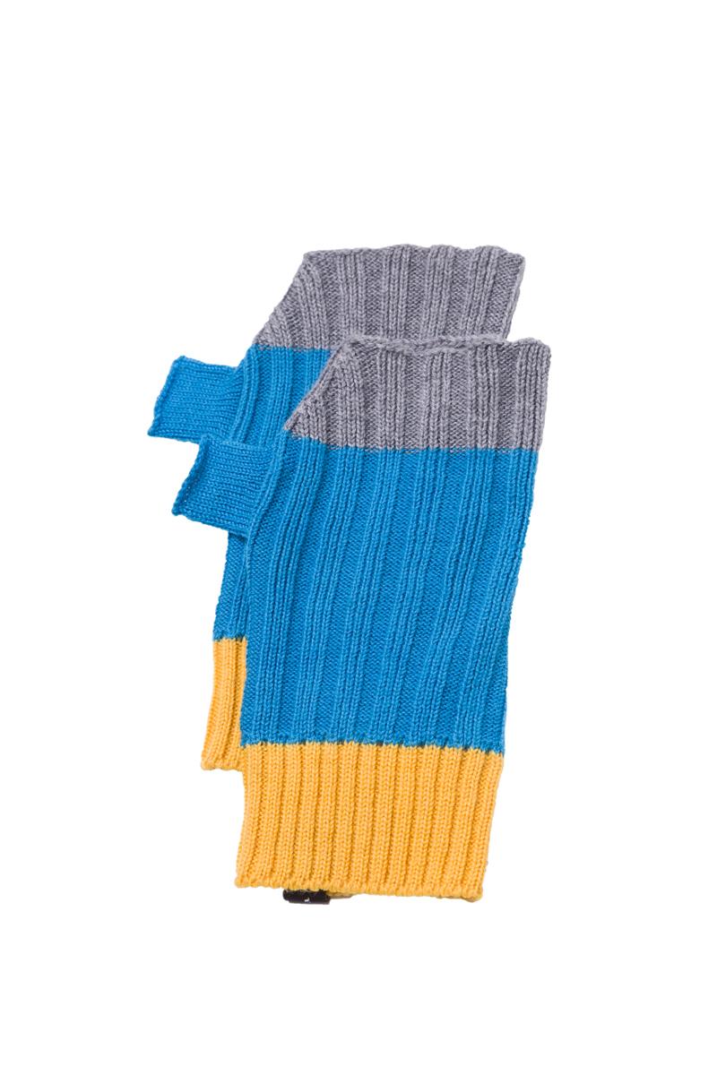 blue turquoise fingerless gloves mittens