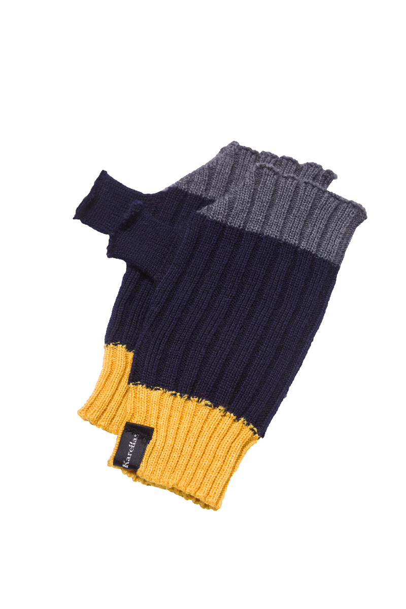 navy mittens fingerless gloves