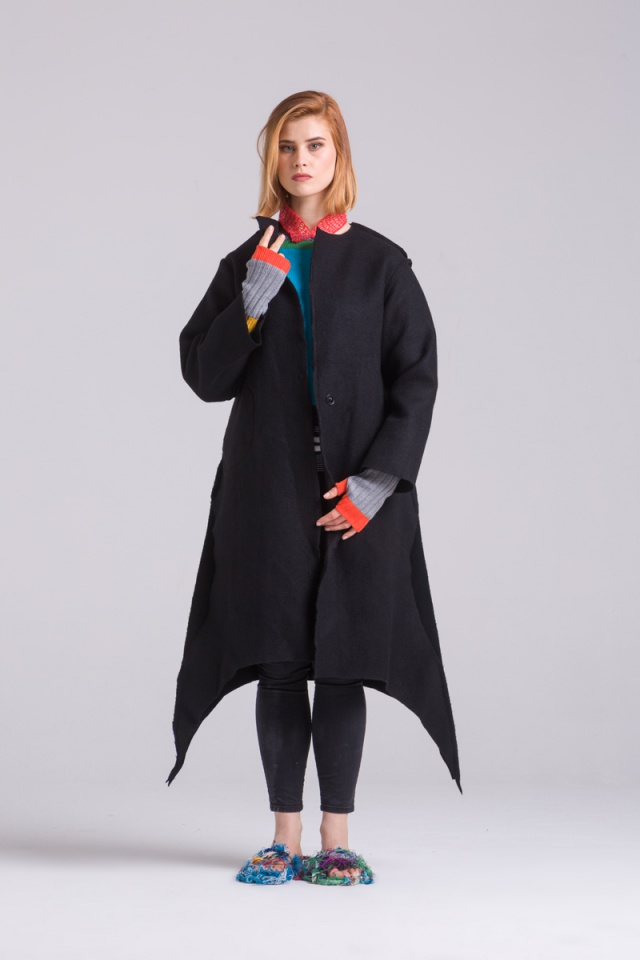 black upicycle coat long