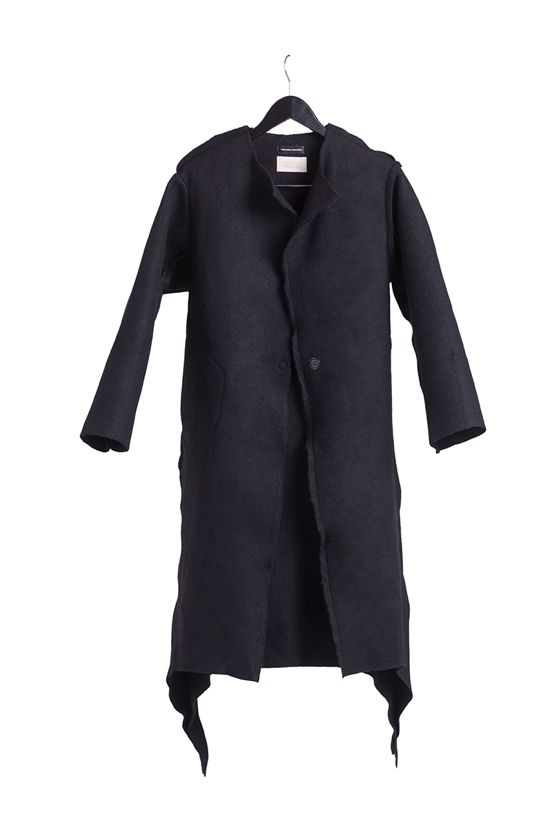 long black coat merino wool