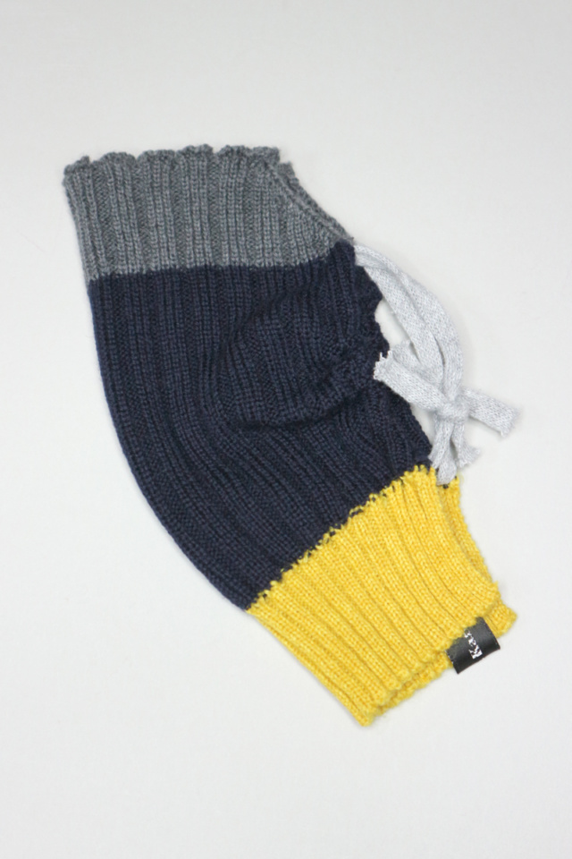 Navy Merino wool knitted mask