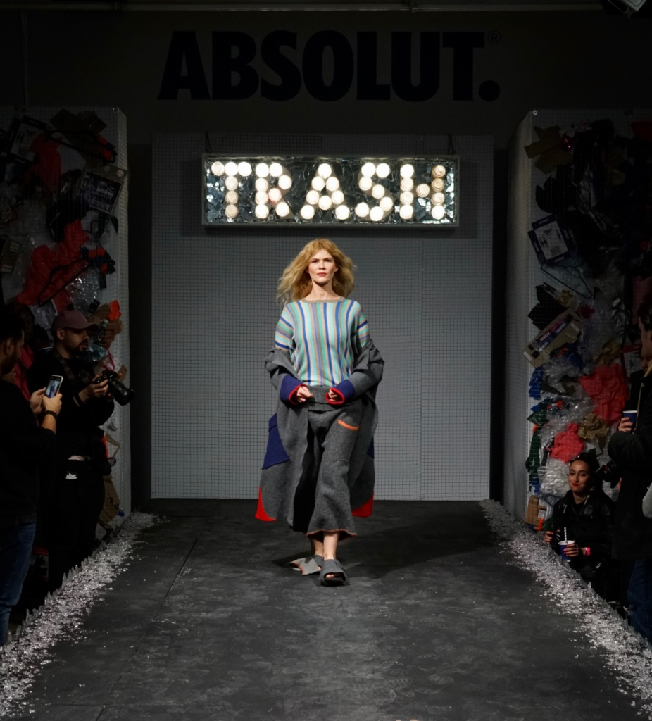 Absolute Vodka Zero Waste Fashion Show Valentina Karellas